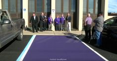 Purple Parking Spots Have Begun Appearing in One State. Their Meaning Should Make Them Go Nationwide