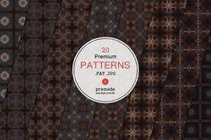 20 Premium Patterns by VectorMedia on @creativemarket