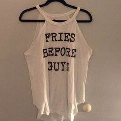 Fries before guys tank! Worn once! Still in great condition! Recycled karma Tops Tank Tops