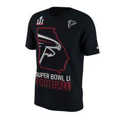 Men's Atlanta Falcons Nike Black Super Bowl LI Bound Local State T-Shirt