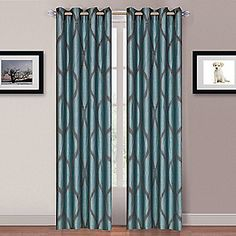 "Lavish+Home+Set+of+Two+84""+Metallic+Curtain+Panels+w/+Grommets"
