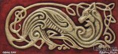 Celtic Cat - in 3D paper art.