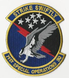 US AIR FORCE PATCH - 71ST SPECIAL OPERATIONS SQUADRON