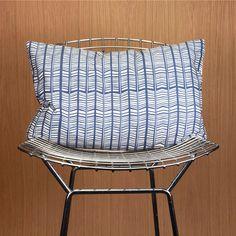Blue & White Arrowhead Pillow