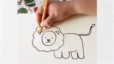 Cómo dibujar un león. Vídeo, paso a paso, para niños.