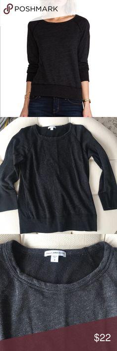 James Perse Black Sweatshirt Size 3 Black sweatshirt in gently used condition. James Perse Tops Sweatshirts & Hoodies