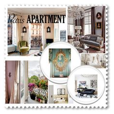 """""""Paris apartment"""" by gamgul ❤ liked on Polyvore featuring interior, interiors, interior design, home, home decor, interior decorating and parisapartment"""