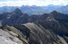 Lechtal - Hohes Licht Zicht op Lechtaler Alpen & Hoher Riffler (met gletsjer, Zillertaler Alpen)
