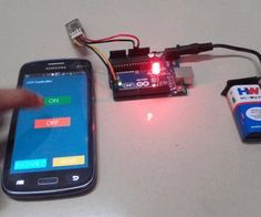 Ever thought of controlling any electronic devices with your smart phone ?Controlling your robot or any other devices with your smartphone will be really cool. Here is is a simple and basic tutorial for interfacing Bluetooth with arduino Arduino Bluetooth, Arduino Led, Arduino Programming, Car Bluetooth, Wireless Speakers, Led Projects, Electrical Projects, Hobby Electronics, Electronics Gadgets