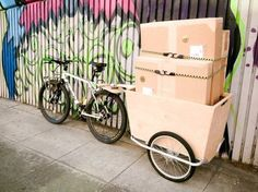 Weekend Project: Make a Cheap and Easy Bike Cargo Trailer   Man Made DIY   Crafts for Men   Keywords: bike, hack, DIY, bicycle