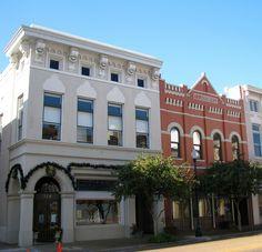 Renovated Buildings On Main Street In Downtown Hattiesburg