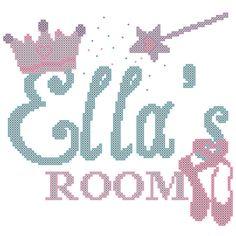 Cross Stitch Pattern Zimmer Prinzessin von oneofakindbabydesign