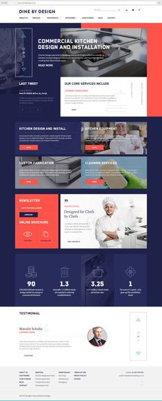 DBD - Commercial Kitchens Website on Behance