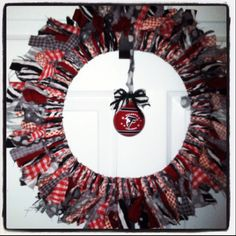 Atlanta Falcons rag wreath