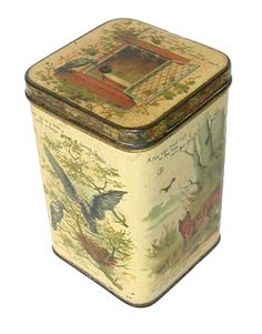 Carrs Aesop's Fables 1892 biscuit tin