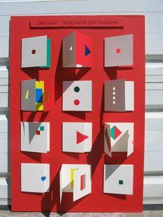 Katsumi Komagata Book Cover Art, Book Art, Painting For Kids, Art For Kids, Sensory Art, Shape Books, Paper Pop, Ecole Art, Collaborative Art