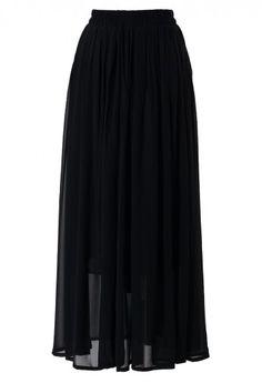 Love long black skirts