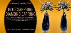 Buy Gorgeous Blue Sapphire Diamond Earring From Gemvanity
