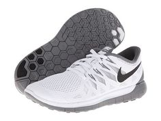 Nike Nike Free 5.0 '14 White/Black/Wolf Grey - Zappos.com Free Shipping BOTH Ways