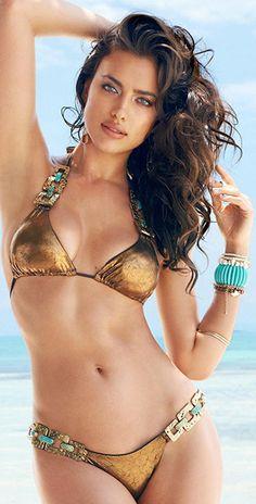 Bikinis Swimwear One pieces & Cover Ups :    Irina Shayk shows off her bikini bottoms in holiday Instagram shot  - #Swimwear https://youfashion.net/fashion/swimwear/bikinis-swimwear-one-pieces-cover-ups-irina-shayk-shows-off-her-bikini-bottoms-in-holiday-instagram-shot/