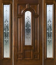 front door with sidelights and transom saratoga | Exterior Doors with Sidelights - Solid Mahogany Doors