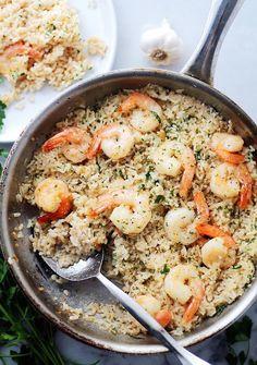 Make Garlic Butter Shrimp + Rice in just 20 minutes.
