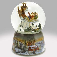 Santa's Flight Snow Globe