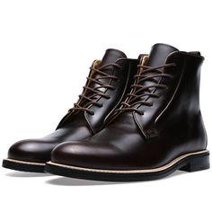 Carven Leather Derby Boot (Dark Brown)