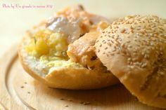 IT'S OH, SO PINK (Hamburger con patate al forno e salmone)