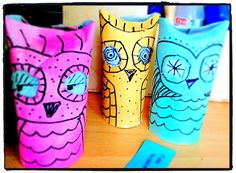 Owls Toilet Paper Roll Craft