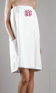 Monogrammed Towel Wrap. Spa Wrap. Bridesmaid by GecesGiftShop, $31.99   Made of real terrycloth - not velour or polyester...with or without monogram, these are handy!