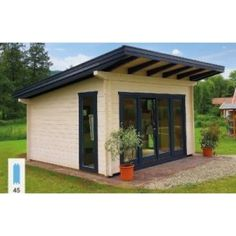 shed plans! Start building amazing sheds the easier way. with a collection of shed plans! Backyard Guest Houses, Backyard Office, Backyard Buildings, Backyard Studio, Backyard Sheds, Outdoor Sheds, Backyard Patio, Pool Houses, Shed To Tiny House