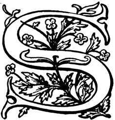 S. Floral initial