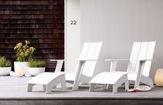 Adirondack Collection [colors -- Black, British.Green, Chocolate, Leaf, Red, Sand Sky.Blue, Slate, Sunset.Orange] Designed by Loll Designs Design Within Reach