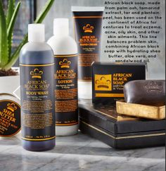 #NubianHeritage #AfricanBlackSoap Collection is traditionally used for problem skin. Daily use of ABS will result in cleaner, clearer, healthier skin.