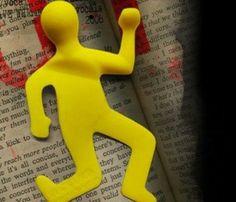 Ezilmiş Adam Şeklinde Kitap Ayracı