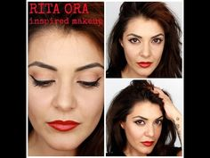 RITA ORA inspired makeup - YouTube