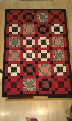 I am in the process of making a Red, White and Black Quilt the top is done I just to quilt and bind it