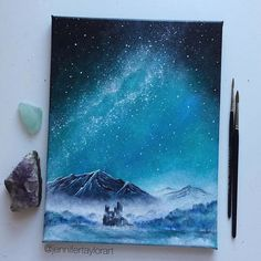 63 Best Ideas For Landscape Paintings Drawing Galaxy Painting, Galaxy Art, Art Sketches, Art Drawings, Magical Paintings, Pastel Art, Art Tutorials, Painting & Drawing, Drawing Drawing