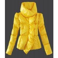 Moncler Euramerican Style Jackets Womens Down Light Yellow