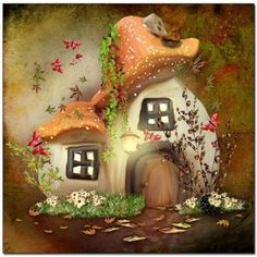 painting cross stitch Picture - More Detailed Picture about diamond Mosaic fairy tale mushroom house picture diy Diamond Painting cross stitch sets embroidery beading puzzle child gift Picture in Diamond Painting Cross Stitch from YIWU Handmade Crafts S Mushroom House, Mushroom Art, Elfen Fantasy, Fantasy Art, Cross Paintings, Background For Photography, Portrait Background, Fairy Art, Wall Patterns
