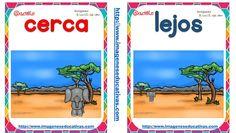Opuetos tarjetas (2) Speech Activities, Infant Activities, Preschool Prep, Teachers Corner, Language And Literature, Prepositions, Baby Learning, Teaching Spanish, Literacy