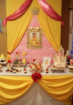 Princess Belle Birthday Party Decorations Belle Themed Party #belle #princess #disney #firstbirthday  Party