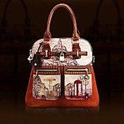 Vrouwen vintage Schilderen Engeland Stijl Tot... – EUR € 107.24 Cheap Handbags, Tote Handbags, England Fashion, Canvas Leather, Vintage Leather, Vintage Ladies, Stuff To Buy, Lol, Painting