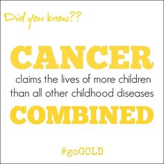 Kids get cancer too! Please Remember to Go Gold for #ChildhoodCancer Awareness this Month! #GoGold - Just a mom's take on things...