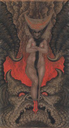 Nikolai Kalmakoff (1873-1955), La Femme de Satan - 1919