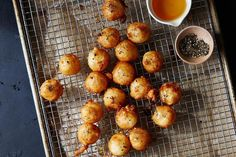 Fried Goat Cheese with Honey and Black Pepper recipe: A tangy sweet bite. #food52