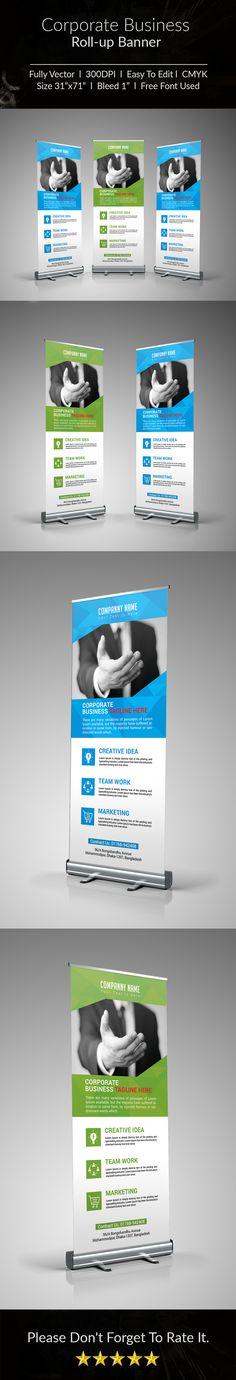 Ознакомьтесь с этим проектом @Behance: «Corporate Business Roll-up Banner- 1» https://www.behance.net/gallery/49266819/Corporate-Business-Roll-up-Banner-1