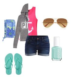 """""""Hanging out in L.A"""" by abbychu ❤ liked on Polyvore featuring VILA, Old Navy, Ray-Ban, Essie and Vera Bradley"""