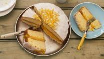 St. Clements orange and lemon drizzle cake